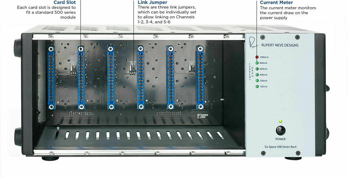 NEW Rupert Neve Designs RND R6 500 Series Six 6 Slot Space Rack Modules Chassis