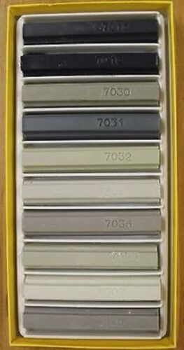Konig Furniture Repair Wax Filler Sticks 10 x Mixed Greys Soft or Hard Wax