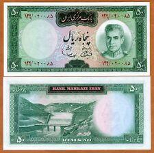 Iran, 50 Rials, (1969-1971), P-85a, aUNC   Shah Pahlavi