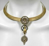 Talk To The Hand Steampunk Collar Necklace By No Monet