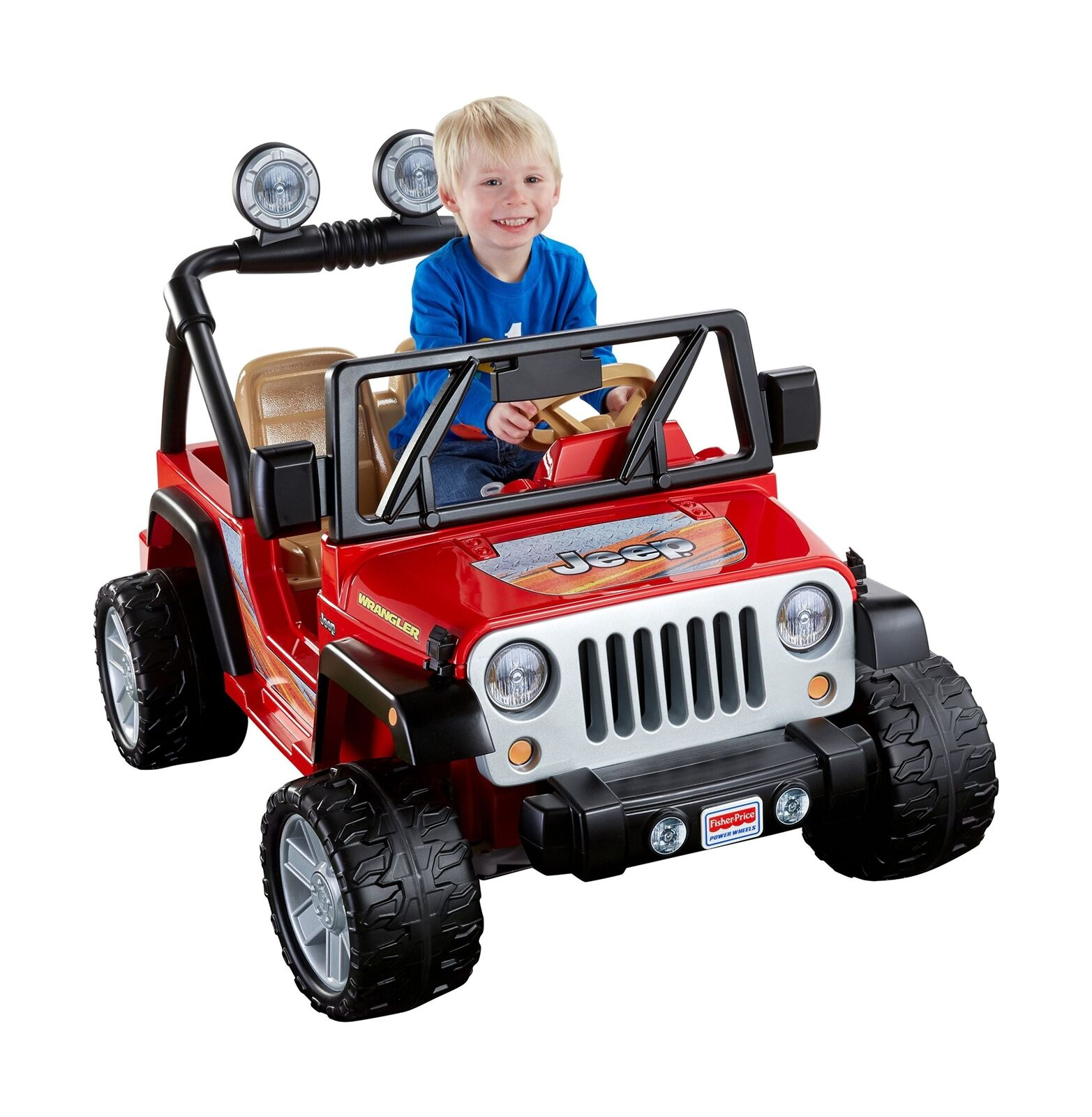 Power Wheels Jeep Wrangler 12V Toy Ride-On Racing Racing Racing Adventure Vehicle Toy Red 254ed3