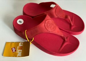 NEW-AUTHENTIC-FITFLOP-WALKSTAR-3-NUBUCK-HIBISCUS-RED-SANDALS-SHOES-8-39-SALE