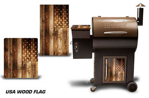 Details about Traeger Grill Decal Pellet Lid, Door Skin Wrap for Costco  Century WOOD FLAG