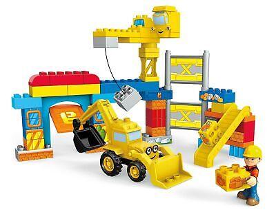 Excavator Crane Mega Bloks Bob The Builder Work Yard Construction Building Kit