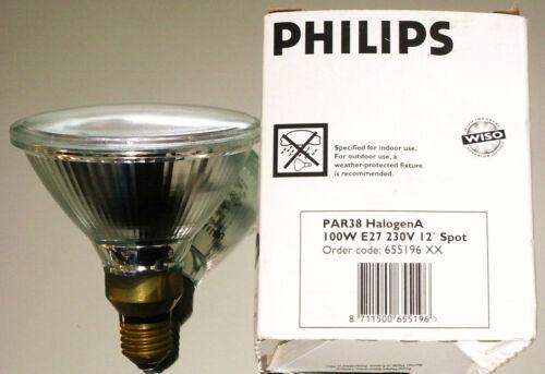 Philips Reflektor Strahler Spot PAR38 HalogenA 230V 100W 12° E27 NEU .