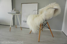 genuine  mongolian  curly  icelandic  sheepskin rug - cream/white/ivory