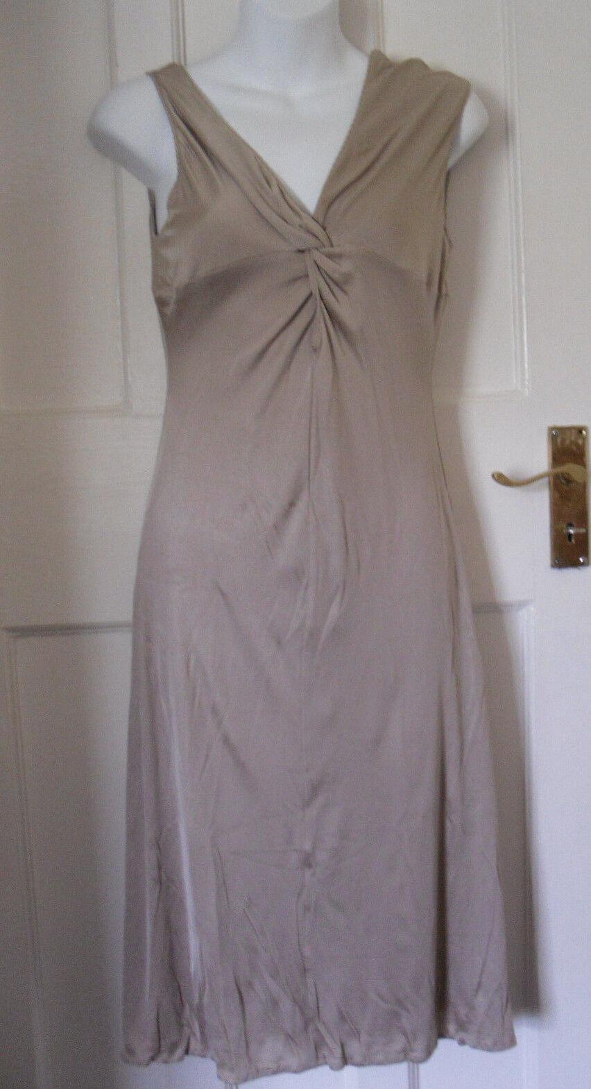 VERSUS VERSACE damen  BEIGE ACETATE NYLON STRETCH DRESS SZ 28 42 UK-8-10(WD19)