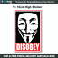 ANONYMOUS-Disobey-Guy-Fawkes-Mask-Sticker-JDM-ILLEST-4x4-Vinyl-Car-Decal-A009