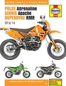 Haynes-Manual-5750-for-Pulse-Pioneer-Adrenaline-Sinnis-Apache-Superbyke-RMR