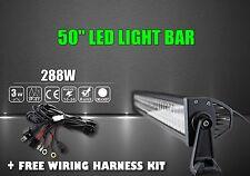 50Inch 288W LED Work Light Bar Fog Driving SUV 4WD JEEP Truck 4X4 + WIRE HA