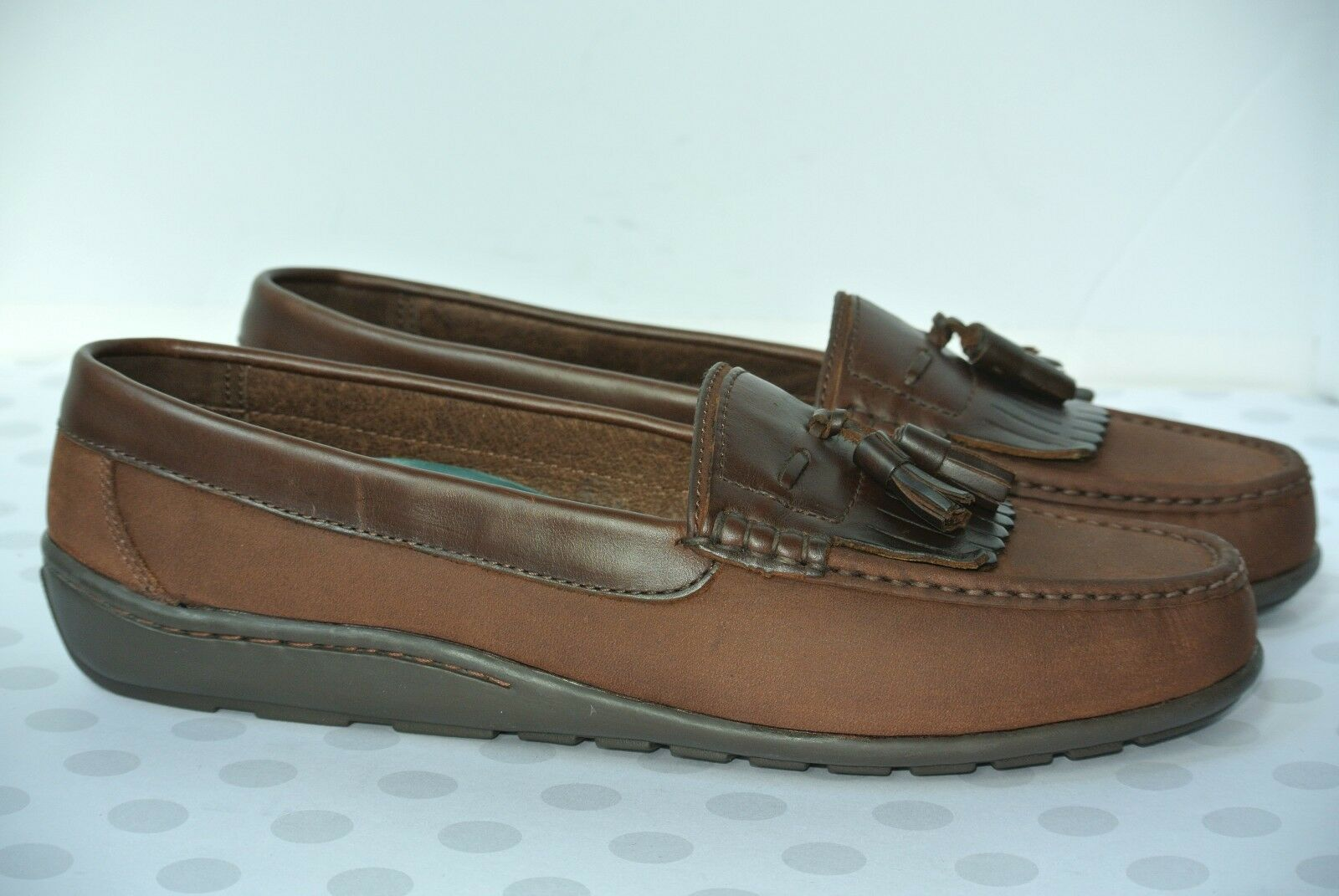 a4671d994e7 NEW Florsheim Comfortech Mens Sz 12 D Brown Tassel Dress Casual Slip On  Loafers