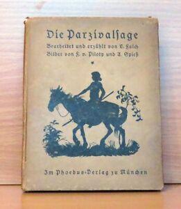 Ernst-FALCH-Die-Parzivalsage-gebunden-Phoebus-Verlag-zu-Muenchen