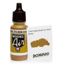 Vallejo Khaki Brown Paint 17ml Bottle Model Air VAL 71024