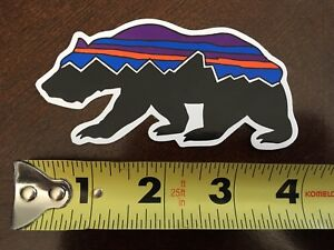 ff76f9ed1 Details about New Patagonia Fitz Roy logo Bear Sticker - 3+