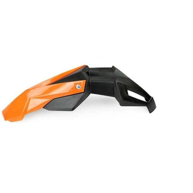 Guardabarros Universal Delantero Super Motard Noend en 2 Piezas Negro/Naranja