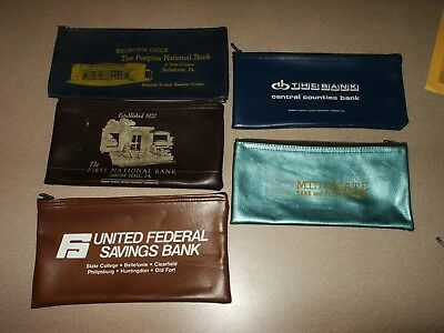Historical Memorabilia Pa State College Centre Hall Bellefonte Friendly 5 Vintage Bank Bags Centre County