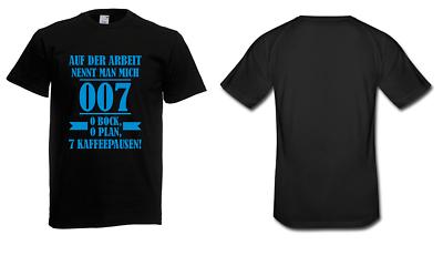 Billiger Preis Herren T-shirt Auf Der Arbeit Nennt Man Mich 007 Größe Bis 5xl Mit Den Modernsten GeräTen Und Techniken