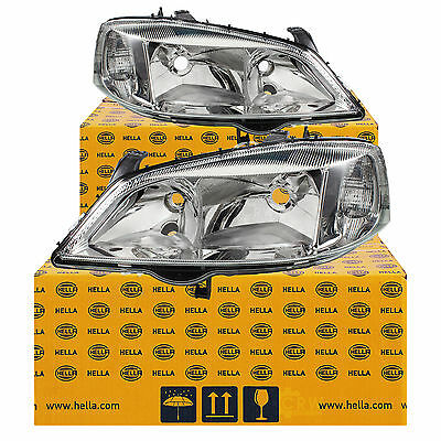 Hella Headlight Set Opel Astra G Built 98-09 H7/HB3 for electric AIM