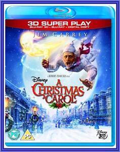 A CHRISTMAS CAROL - 3D + 2D Jim Carrey **NEW BLU-RAY**   eBay