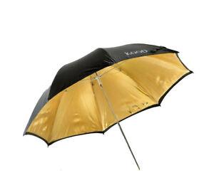 Kood-Brolly-43-034-109cm-Black-Gold-Reflective-Studio-Flash-Umbrella