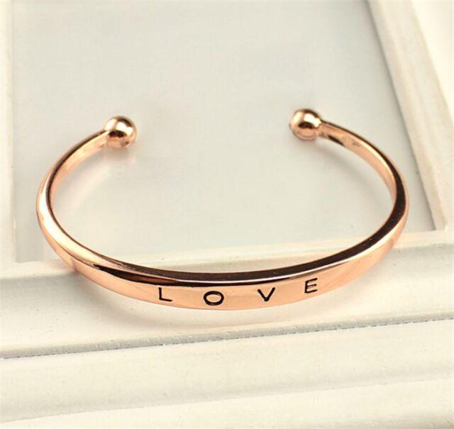 Lovers Stainless Steel Love Cuff Bangle New Gift Wedding Women Men Bracelets New