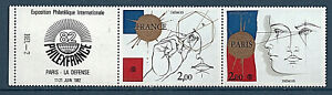 PAIRE TIMBRES P2142A NEUF XX LUXE  - PHILEXFRANCE 1982 - PAIRE + VIGNETTE