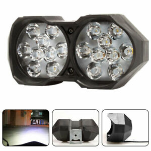 2X Motorcycle Headlight Spot Fog Lights Lamp LED Front 12V-60V Driving Offroad