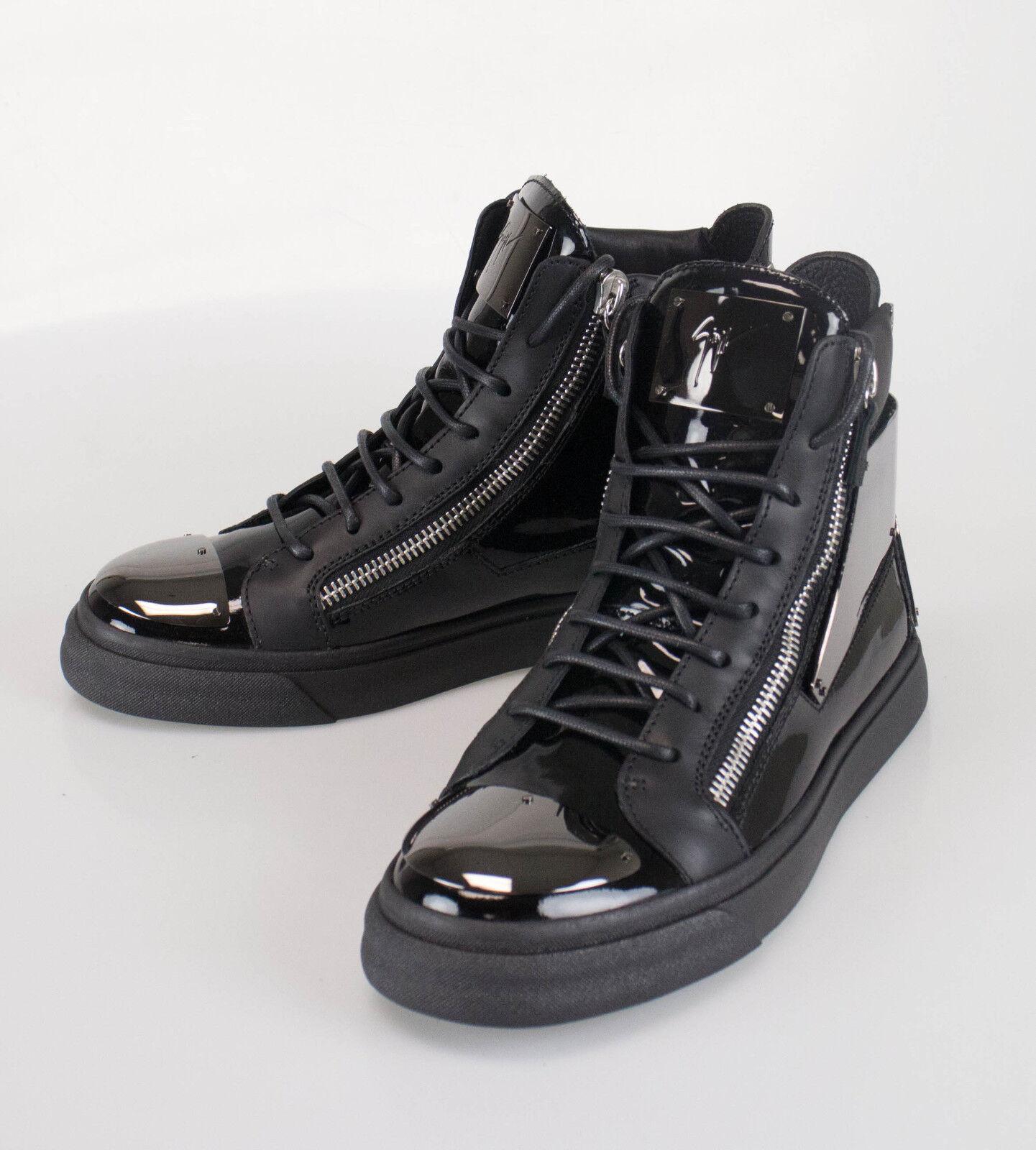 New. GIUSEPPE ZANOTTI London Vernice Hi-Top Sneakers shoes 7 US 40 EU