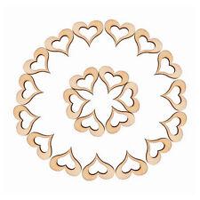 50 Rustic Wooden Mini Hollow Love Heart Wood Cutout Wedding Craft Embellishment