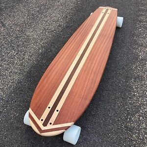 Details about Longboard 44x11 Custom Made SOLID WOOD - Tunnels