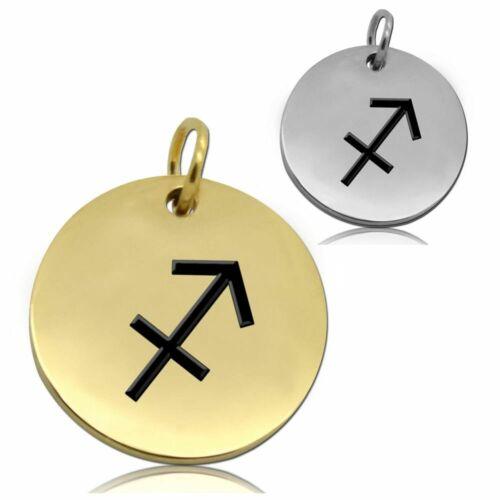 Kettenanhänger Buchstabe Sternzeichen Mit Oder Ohne Halskette Anhänger Edelstahl