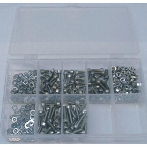 M4 Innensechskantschrauben Set 400 Teile Edelstahl A2 DIN 912