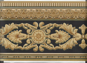 WALLPAPER-BORDER-VICTORIAN-SCROLL-ARCHITECTURAL-MOULDING-VINTAGE-ANTIQUE-NEW