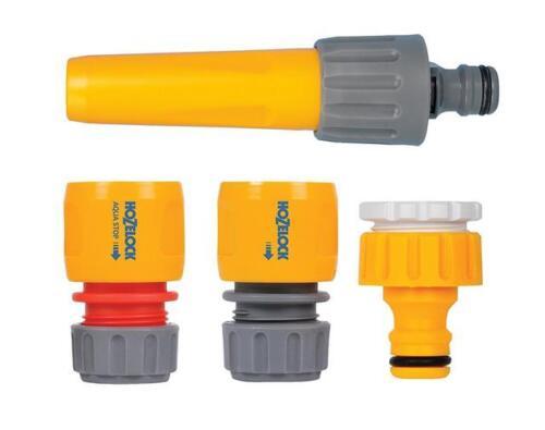 Hozelock Tuyau Raccord Starter Set arrêt de l/'eau Buse robinet et Fin Connecteur