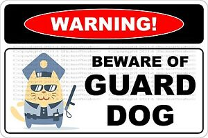 Metal-Sign-Warning-Beware-Of-Guard-Dog-8-x-12-Aluminum-NS-556