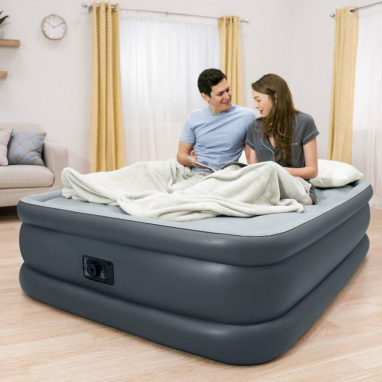 Colchones Inflables Queen Size Mediano Autoinflable