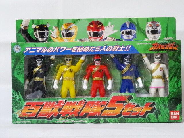 2001 Hyakujuu Sentai GaOranger Figure 5pcs Set BANDAI Power Rangers Doll