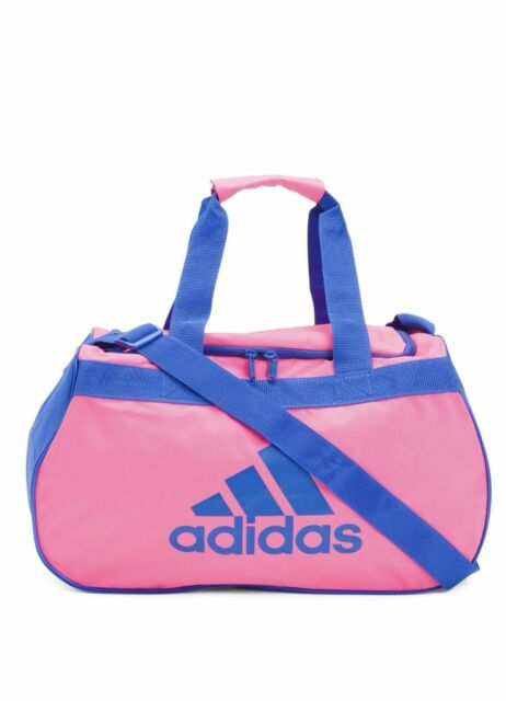e10f0e7100 adidas Diablo Small Duffel Women Shock Pink Blue Gym Bag Luggage. About  this product. NWT ADIDAS Diablo Small Duffel Gym Bag Travel ...