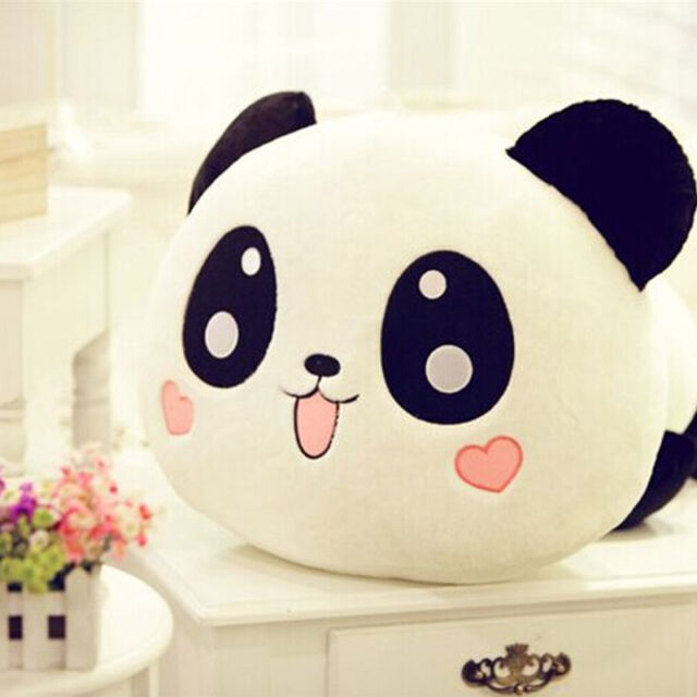 "20cm 8"" Cute Plush Doll Toy Stuffed Animal Panda Pillow Quality Bolster Gift 1pc"