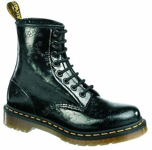 Original-Classic-Doc-Dr-Martens-8-Loch-1460-QQ-Flowers-Black-11821018