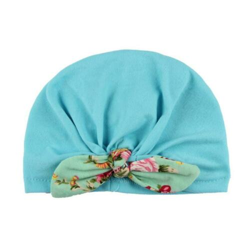 Baby Toddler Girls Kids Bunny Rabbit Ear Bow Knot Turban Headwrap Hat Warm LC