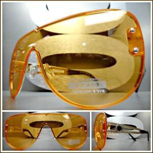 e6e4f9a6fe Image is loading Oversized-Luxury-Designer-Retro-Shield-Style-SUN-GLASSES-