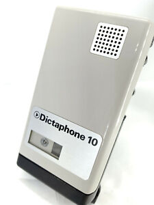 Dictaphone 10 MiniCassette Voice Recorder Handheld Vintage Collectible Grey MINI
