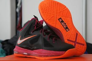 new product 8c201 5939b Image is loading Nike-Lebron-X-GS-10-Floridian-543564-004-