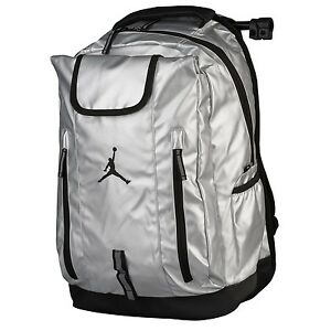 d234e69dbfe7 Image is loading NWT-NIKE-JORDAN-JUMPMAN-DRIVEN-BACKPACK-METALLIC-SILVER-
