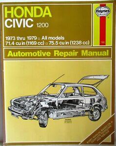 Haynes-Honda-Civic-1200-1973-thru-1979-Automotive-Repair-Manual-T48-Post