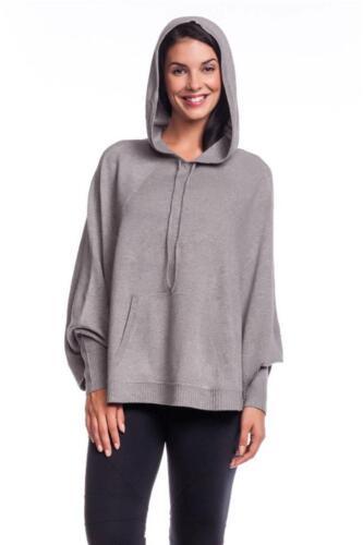 Acrobat Women/'s Sweatshirt Poncho Pepper Hooded Jacket Gray Grey Hoodie Sweater