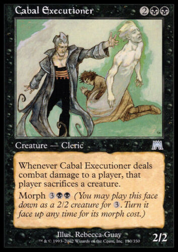 Cabal Executioner X4 EX//NM Onslaught MTG Magic Cards Black Uncommon