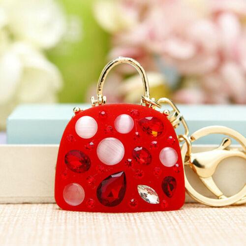 Fashion Crystal Rhinestone Keyring Keychain Charm Pendant Bag Car Key Chain Hot