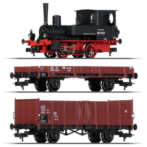 nuevo + Fleischmann 631881-1 h0 máquina de vapor br 98.75 con tren de carga